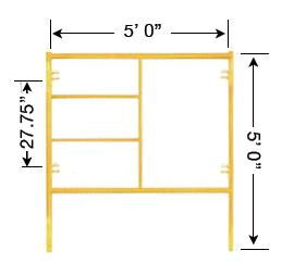 Where to find 5 X 5  SCAFFOLD END FRAME in Tulsa
